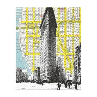 Flatiron Building vintage landmark Canvas Print