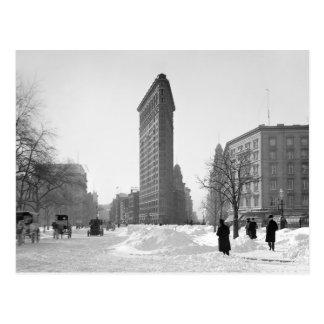 Flatiron Building Winter Scene, 1905 Postcard