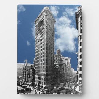 Flatiron que construye New York City Placa De Plastico