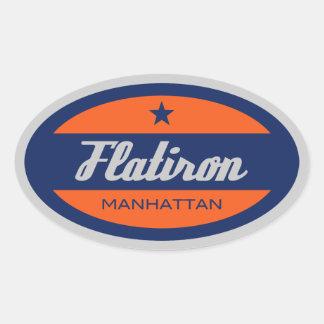 Flatiron Oval Sticker