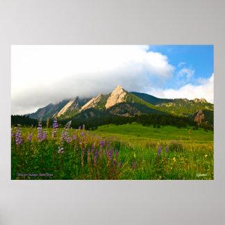 Flatirons de Chautauqua - Boulder, Colorado Póster