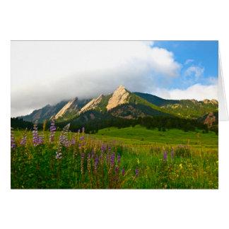Flatirons de Chautauqua - Boulder, Colorado Tarjeta De Felicitación