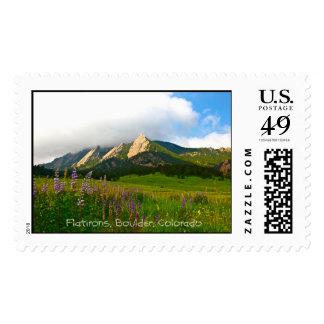 Flatirons de Chautauqua - Boulder, Colorado Timbre Postal