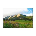 Flatirons from Chautauqua - Boulder, Colorado Canvas Print