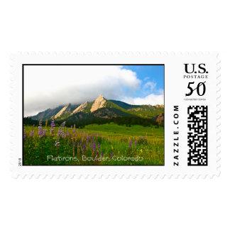 Flatirons from Chautauqua - Boulder, Colorado Postage
