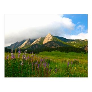Flatirons from Chautauqua - Boulder, Colorado Postcard