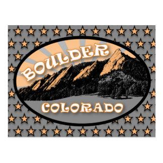 Flatirons, parque de Chautauqua, postal de Boulder