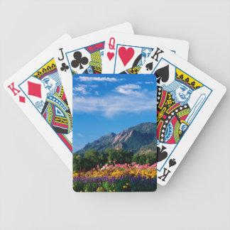 Flatirons y flores, Boulder Colorado Baraja Cartas De Poker