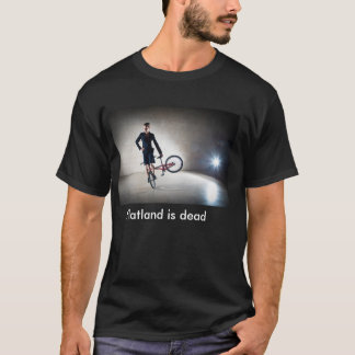 Flatland is dead T-Shirt with customizable text