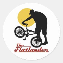 Flatlander BMX Classic Round Sticker