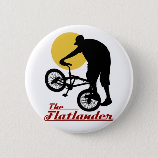Flatlander BMX Pinback Button