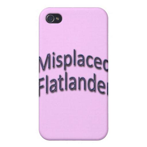 Flatlander equivocado azul iPhone 4 funda