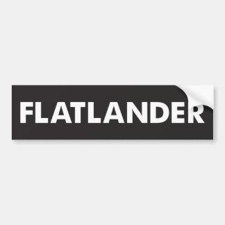 Flatlander Pegatina Para Auto