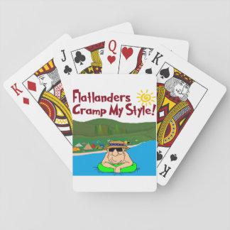 Flatlanders Cramp My Style Playing Cards