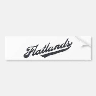 Flatlands Car Bumper Sticker