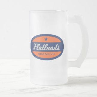 Flatlands Frosted Glass Beer Mug