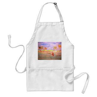 flats fly fishing girl adult apron