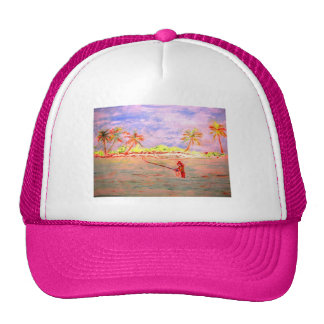 flats flyfishing girl mesh hat