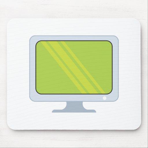 flatscreen pc monitor vector design mouse pad