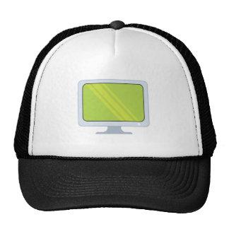 flatscreen pc monitor vector design trucker hat