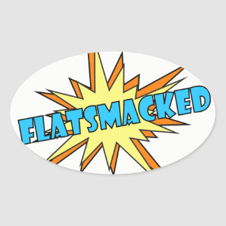 #FLATSMACKED Oval Stickers Blue