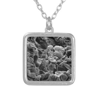 flatten dots texture silver plated necklace