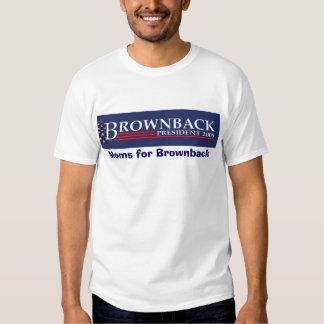 FLATTENED EMBOSSED BROWNBACK PRESIDENT 2008 BLU... T SHIRT