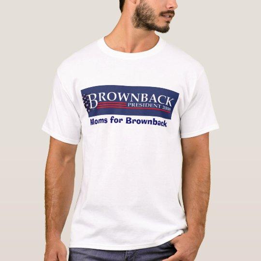 FLATTENED EMBOSSED BROWNBACK PRESIDENT 2008 BLU... T-Shirt