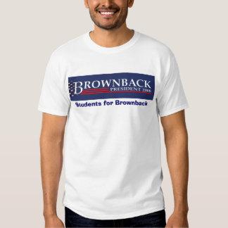 FLATTENED EMBOSSED BROWNBACK PRESIDENT 2008 BLU... TEE SHIRT