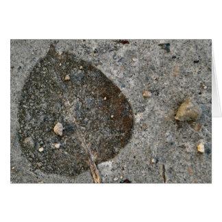 Flattened Leaf Card