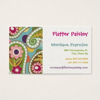 Flatter Paisley - Aqua - Business Card