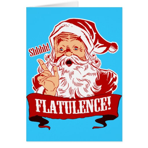 Flatulence for Christmas Greeting Cards