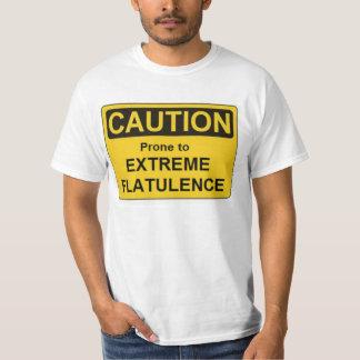 Flatulencia del extremo de la LAFS-Precaución Polera