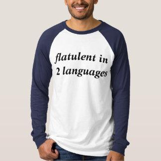 flatulento en 2 idiomas playeras