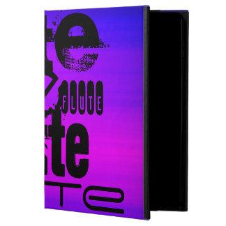 Flauta; Azul violeta y magenta vibrantes