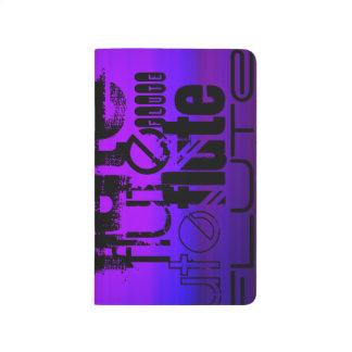 Flauta; Azul violeta y magenta vibrantes Cuadernos