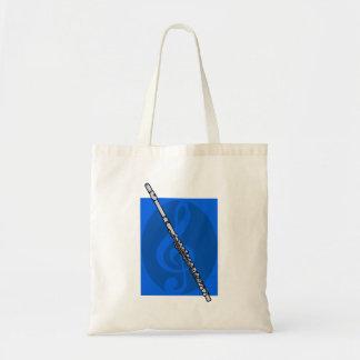 Flauta con el fondo azul de Clef agudo Bolsas