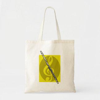 Flauta con imagen amarilla del diseño del clef agu bolsas