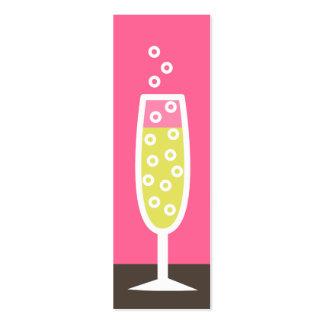 Flauta de champán tarjetas de visita mini