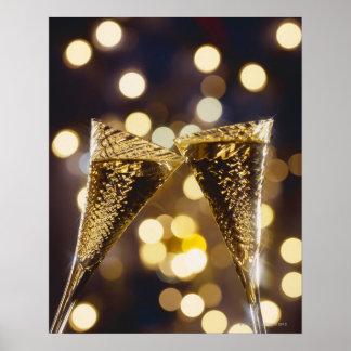 Flauta de champán tostada, primer impresiones