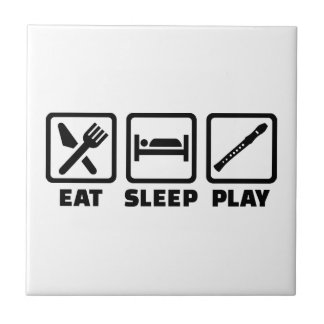 Flauta de Eat Sleep Play Azulejos Cerámicos