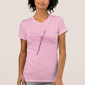 Flauta de la libélula camisetas
