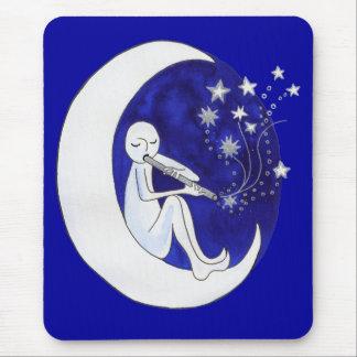 Flauta de la luna alfombrilla de ratón