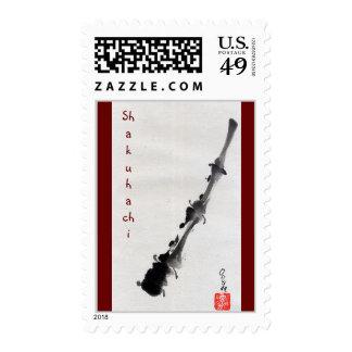 Flauta de Shakuhachi Estampilla
