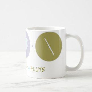 Flauta del amor de la fe taza básica blanca
