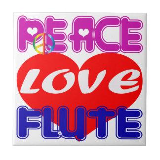 Flauta del amor de la paz teja