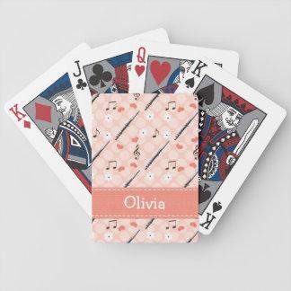 Flauta del amor de la paz baraja cartas de poker