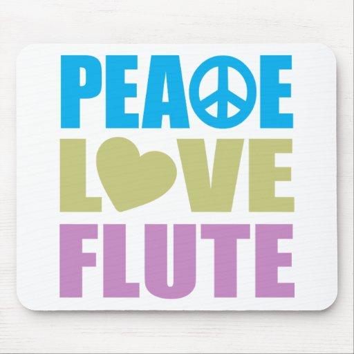 Flauta del amor de la paz tapete de raton