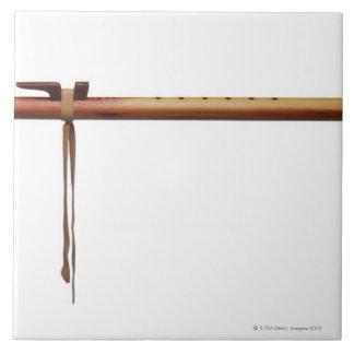 Flauta del cedro del nativo americano azulejo