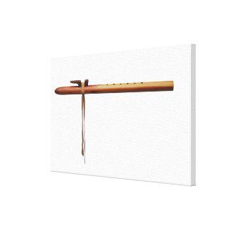 Flauta del cedro del nativo americano impresión en lona estirada